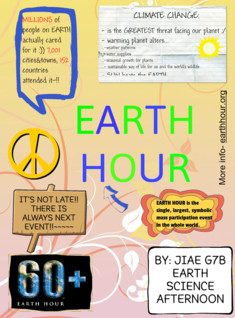 EARTH HOUR E POSTER BY JIAE G7B