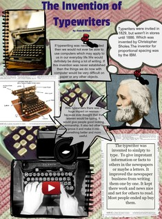 [2013] Anna Mitchell: The Invention of Typewriters