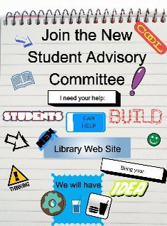 JOIN the ASD Library Students Advisory Committee!