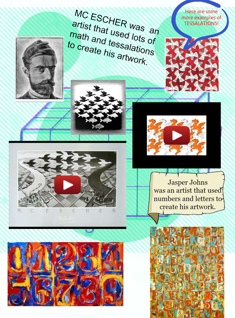 MC Escher and jasper johns