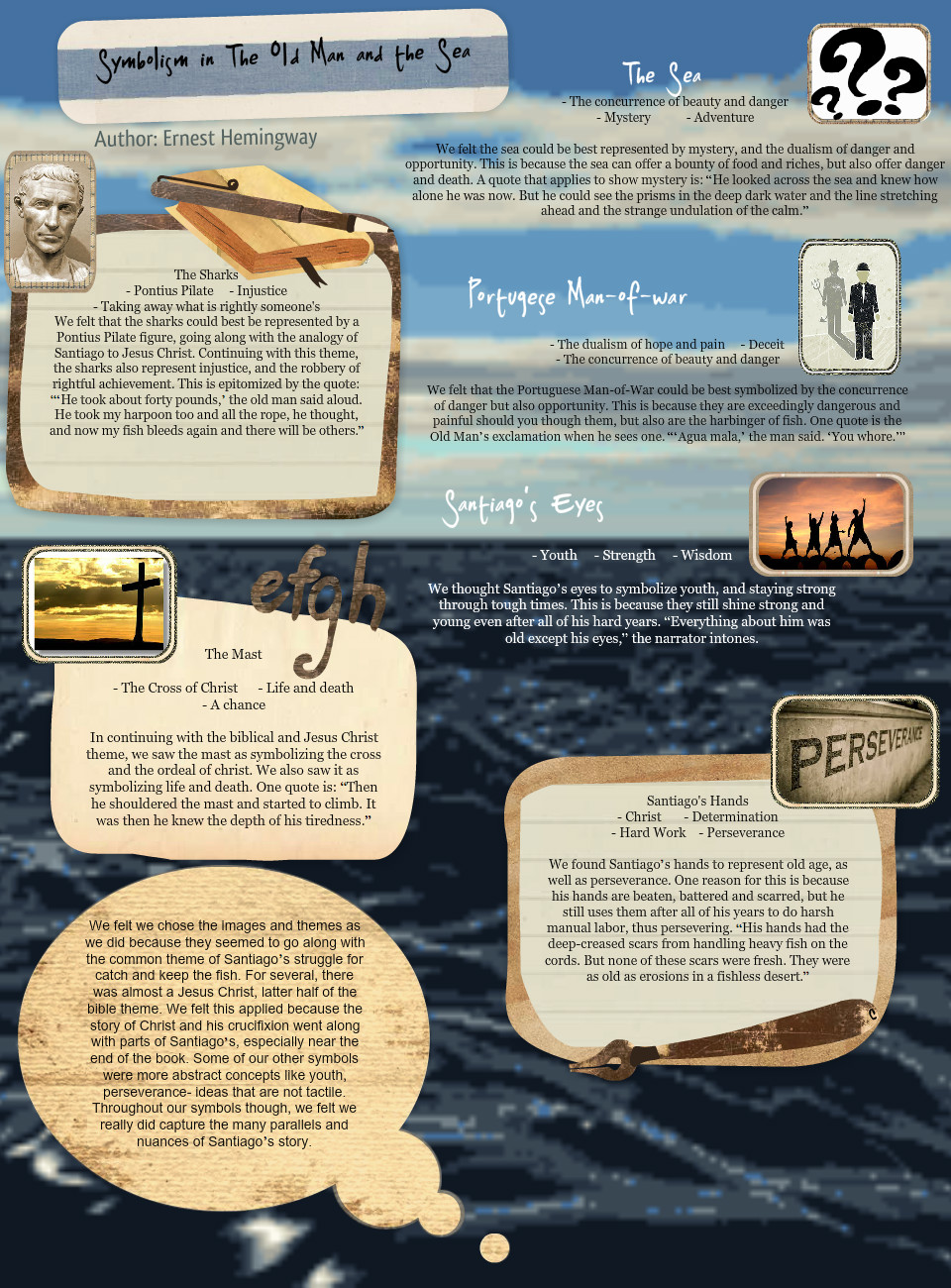 Symbolism In The Old Man And The Sea Arts Book En N N Ernest