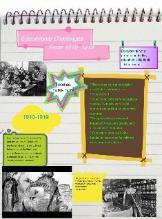 Educational challenges 1910- 1919