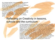 reflecting on creativity's thumbnail