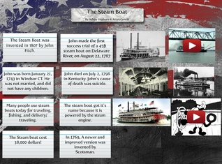 Steam boat history