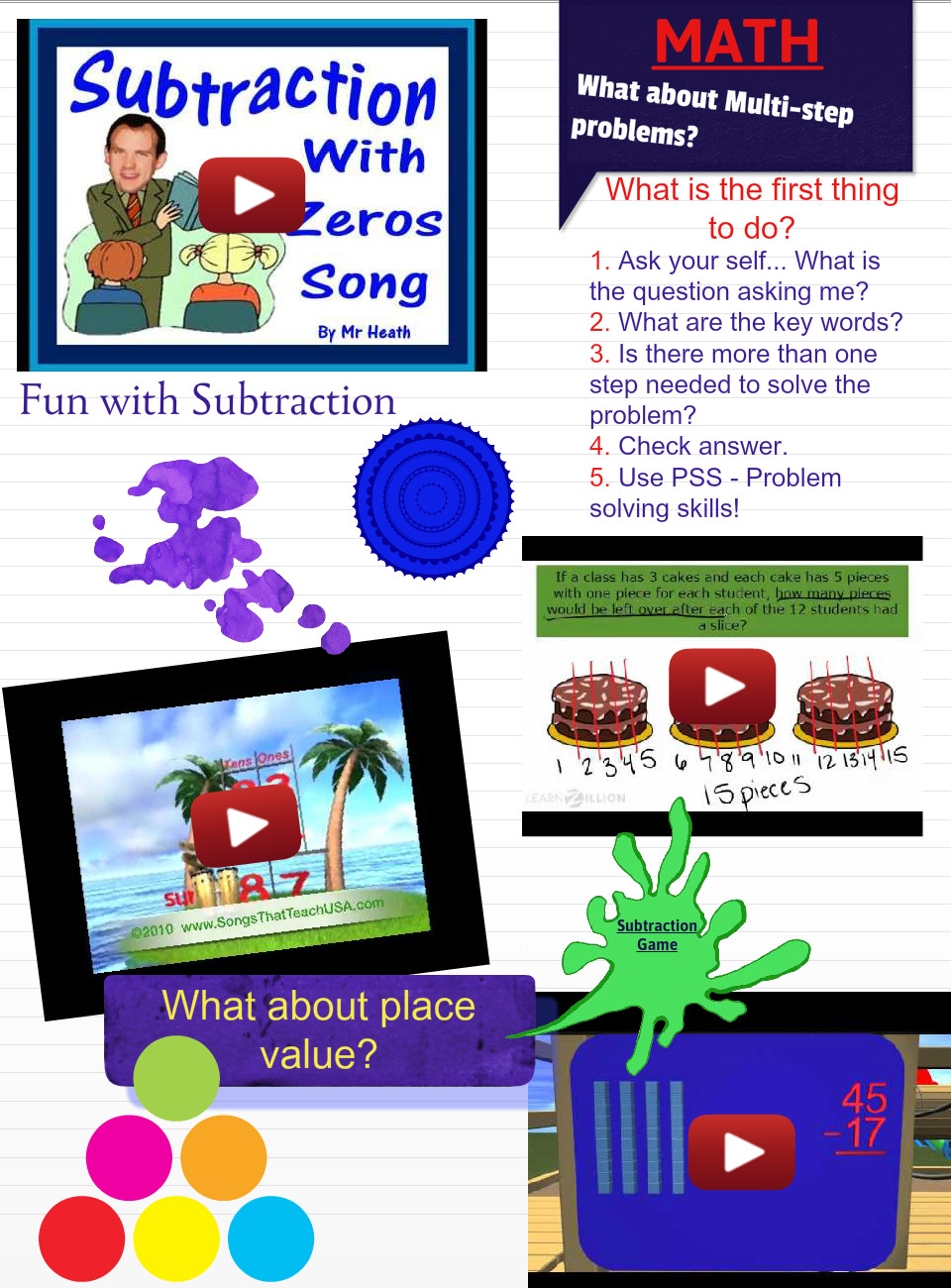 Math Solving Skills Addition and Subtraction