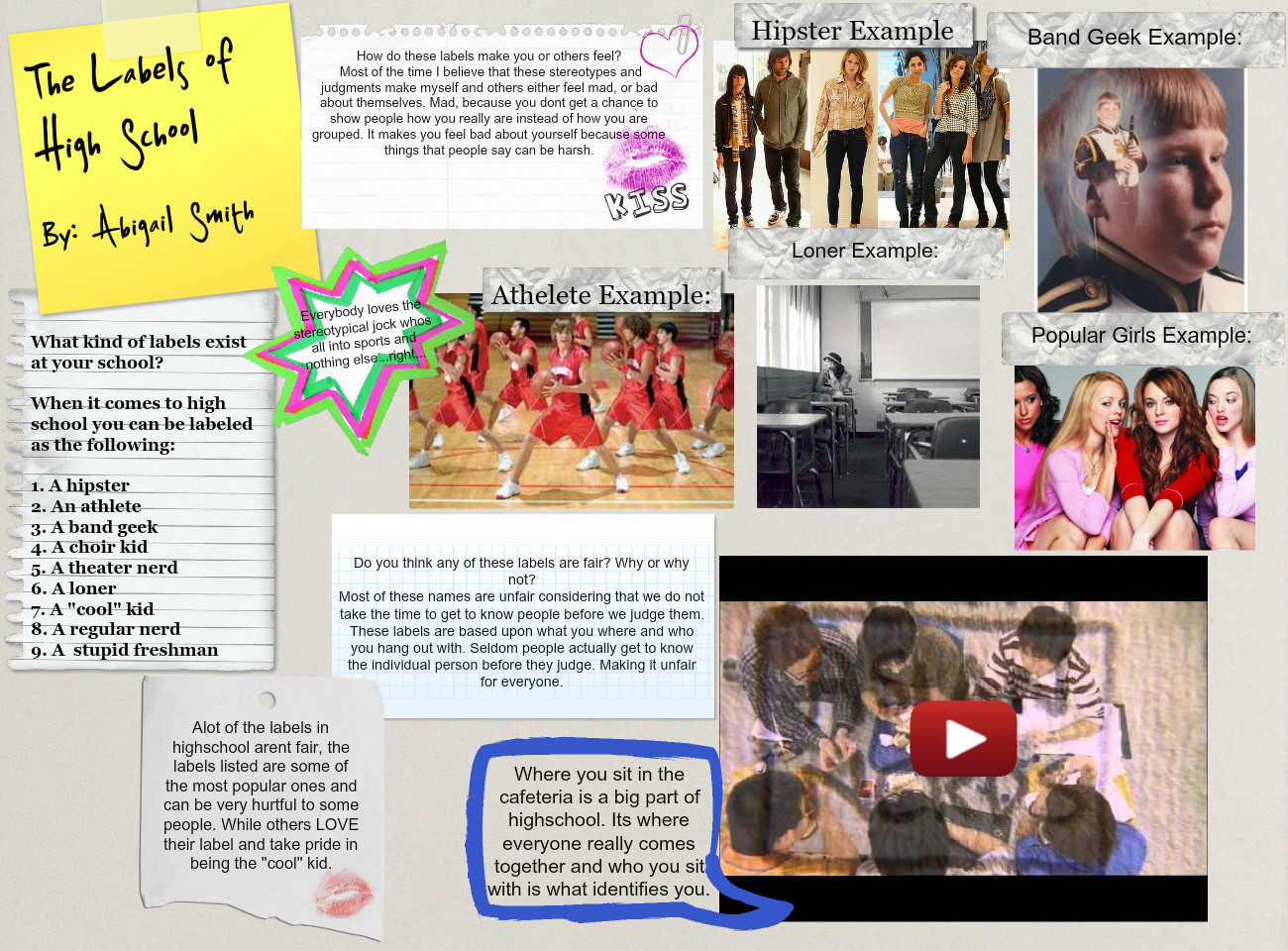Labels of High School: text, images, music, video | Glogster