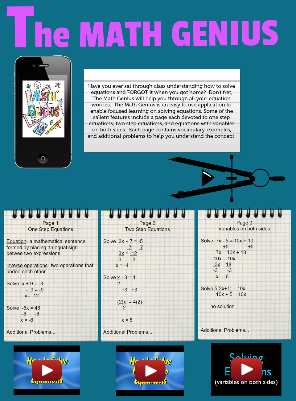 Create a Math App: text, images, music, video | Glogster EDU ...