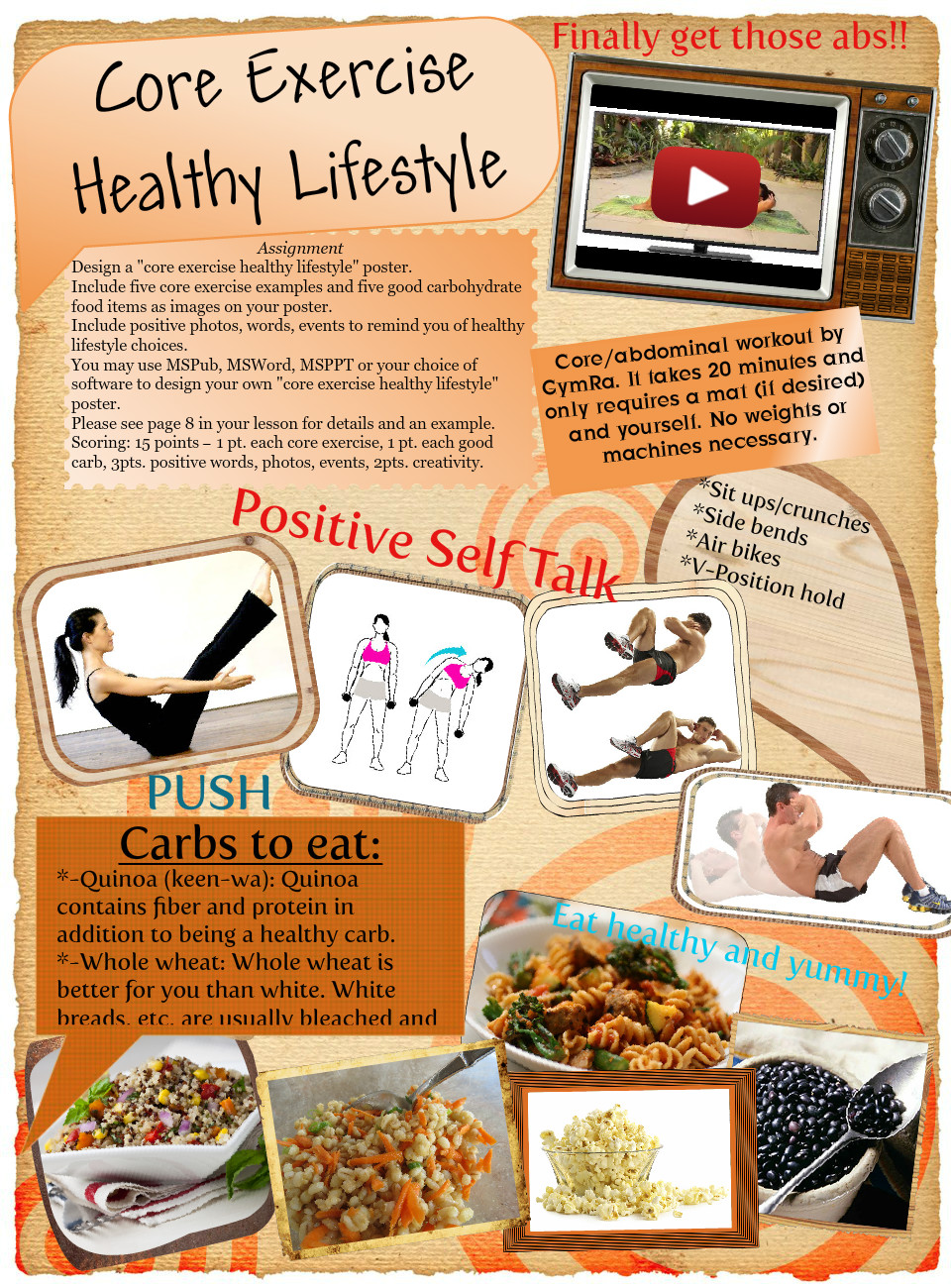 Core Exercise & Healthy Lifestyle