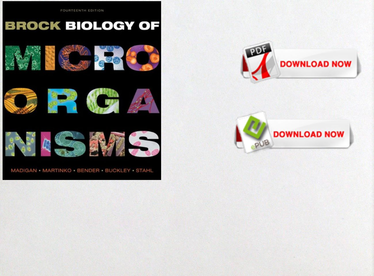 Free Download Pdf Ebook Brock Biology Of Microorganisms 14th