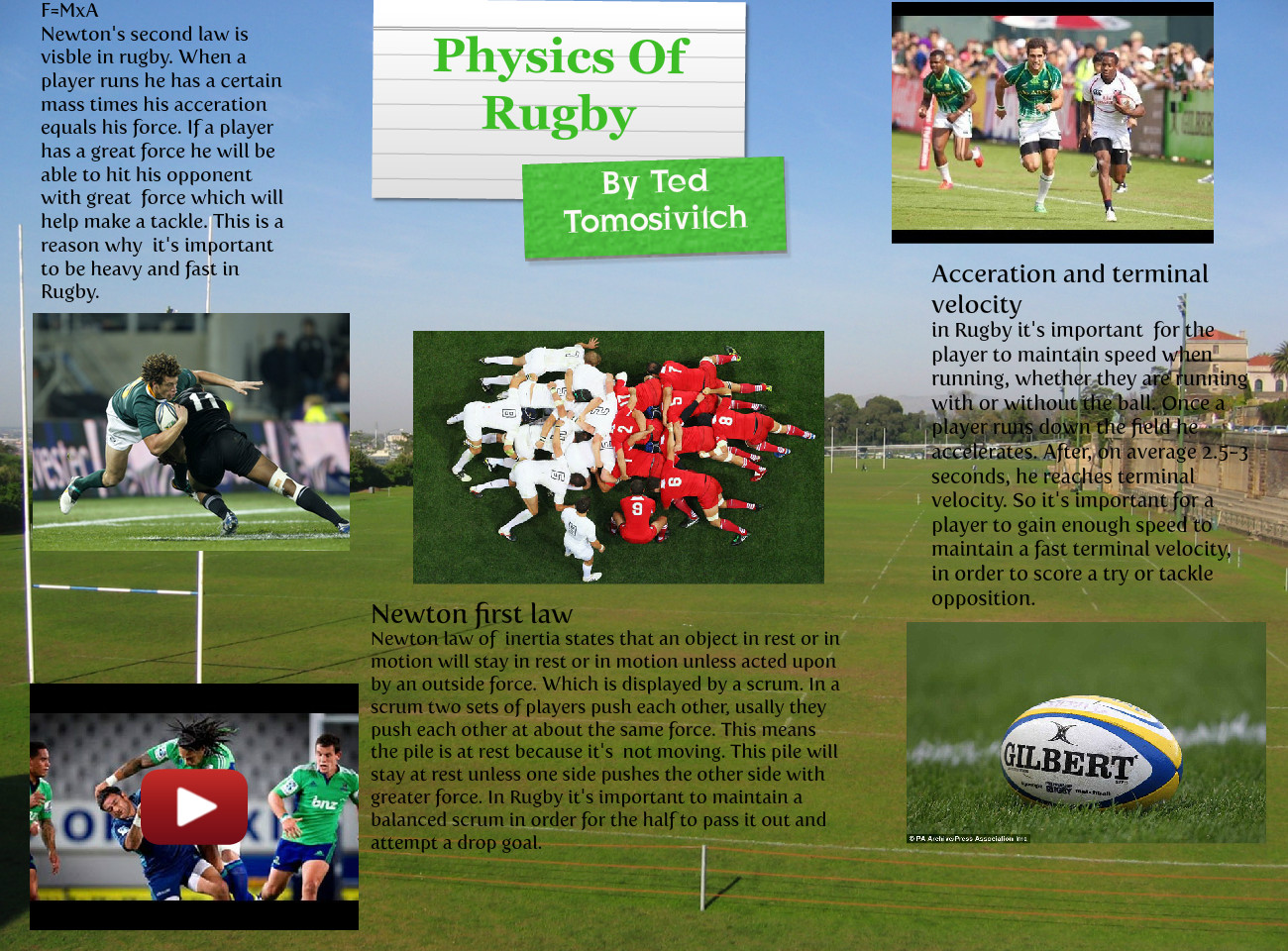 Physics Of Rugby