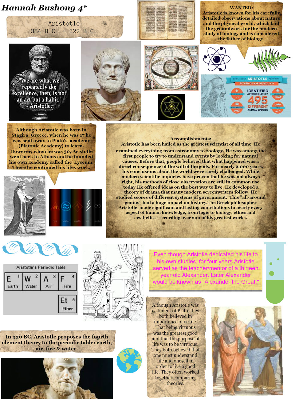 Aristotle Wanted Poster By Hannah Bushong Text Images Music