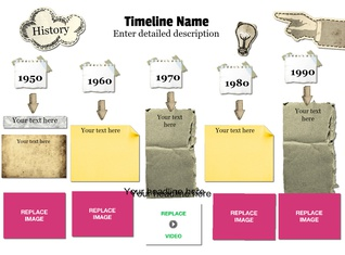 Timeline (Paper Stickers), Horizontal
