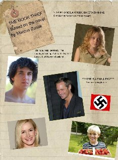 Poster ad of THE BOOK THIEF for Mrs. Coleman's 9th grade english class