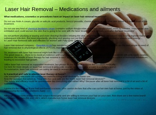Laser Hair Removal – Medications and ailment
