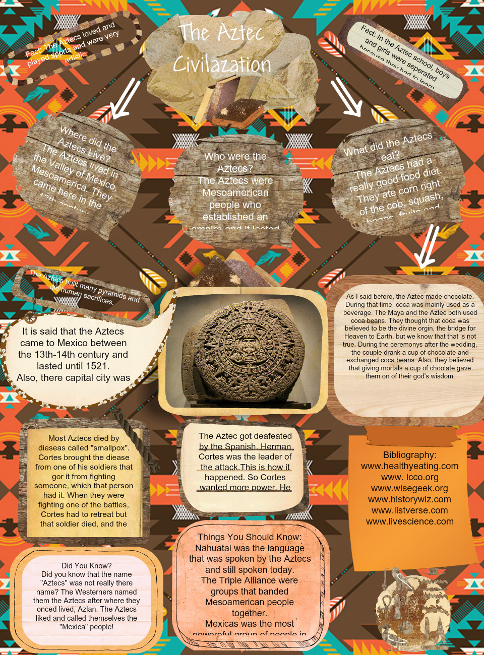 the aztecs what should history say This guide will show to you how fun and amazing a trip to the aztec civilization can be, so if you ever want to visit the aztec civilization this paper should be your travel guide i have lived almost all my life learning about the aztecs and working for the history channel 13.