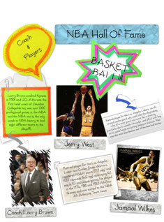 NBA Hall Of Fame Project