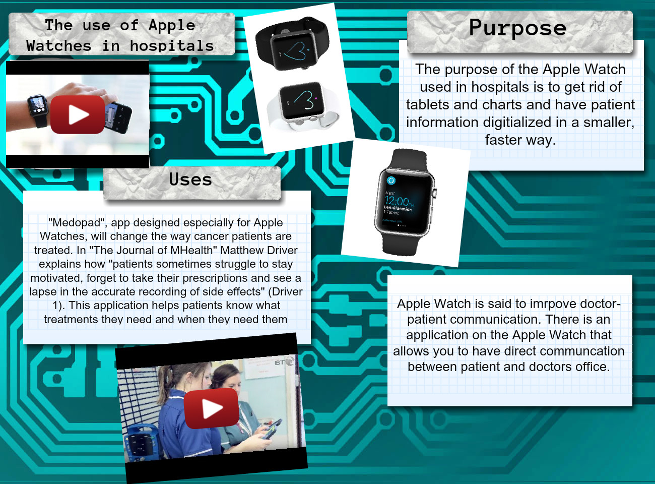 The Use of Apple Watches in Hospitals